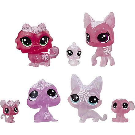 Hasbro LPS Zvířátka z ledového království 7 ks - růžová