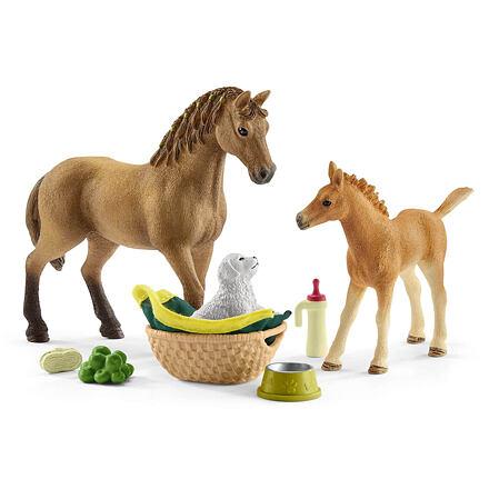 Schleich Schleich 42432 Hříbě a kůň se štěňátkem a doplňky