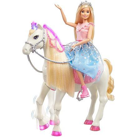 Mattel Barbie Princezna a kůň se světly a zvuky