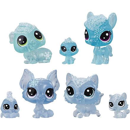 Hasbro LPS Zvířátka z ledového království 7 ks - modrá