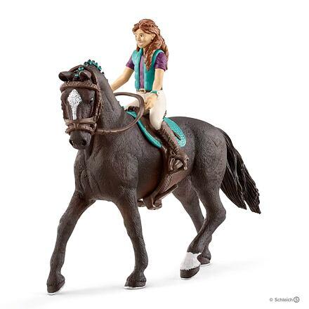 Schleich Schleich 42516 Hnědovláska Lisa a kůň Storm