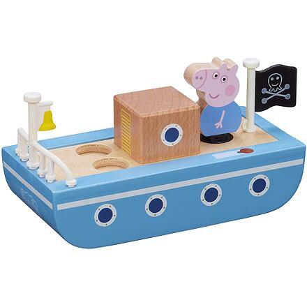 TM Toys Prasátko Peppa dřevěná loď