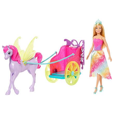 Mattel Barbie Dreamtopia Princezna v kočáru a pohádkový kůň