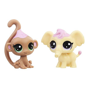 Littlest Pet shop Frosting Frenzy - Opička a slon