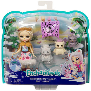 Enchantimals panenka Odele Owl s rodinkou
