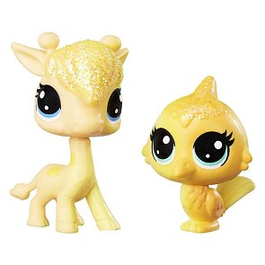 Littlest Pet Shop Duhová zvířátka - Lofty Sunglow a Saffron Flutterdust