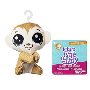 Littlest Pet Shop plyšák s klipem - Clicks Monkeyford