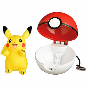 Pokémon Pop Action Pokéball a plyšový Pikachu